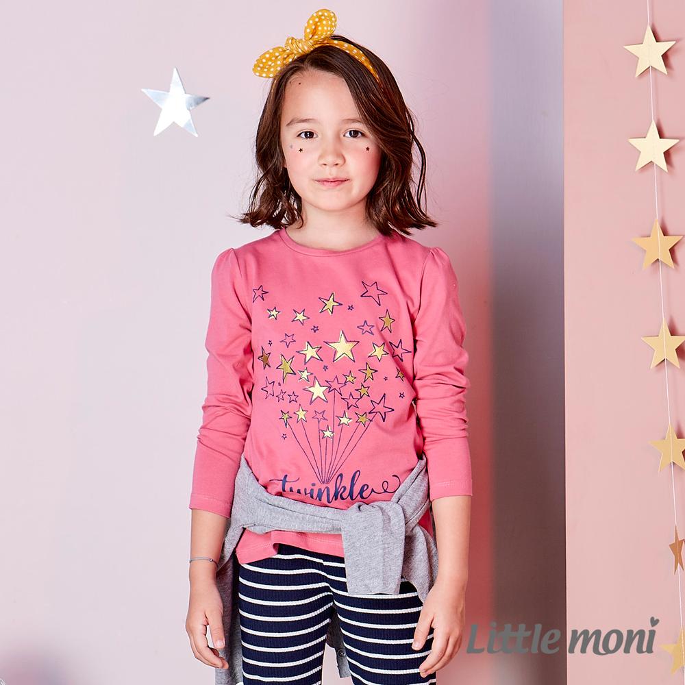 Little moni 閃亮星印圖上衣 (共2色)