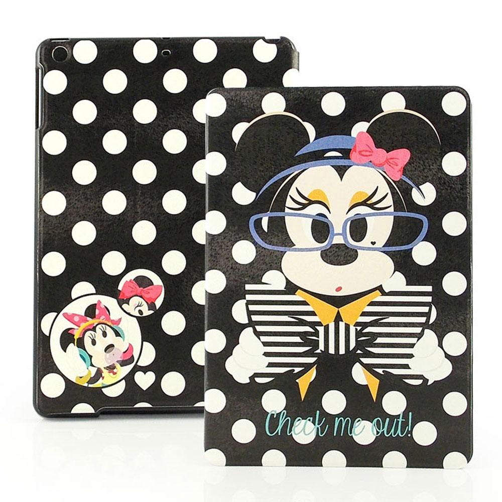 Disney Apple iPad Air 時尚米妮彩繪側掀可立式皮套