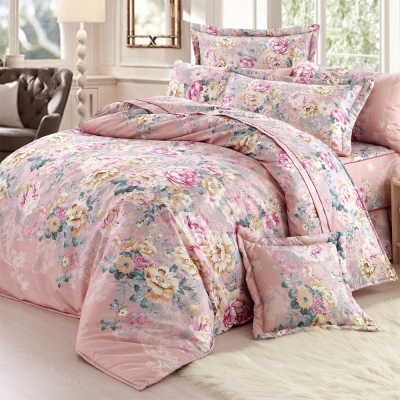 彩舍家居 愜意花卉 加大八件式兩用被床罩組