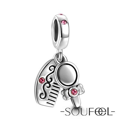 SOUFEEL索菲爾 925純銀珠飾 梳子套裝 吊飾