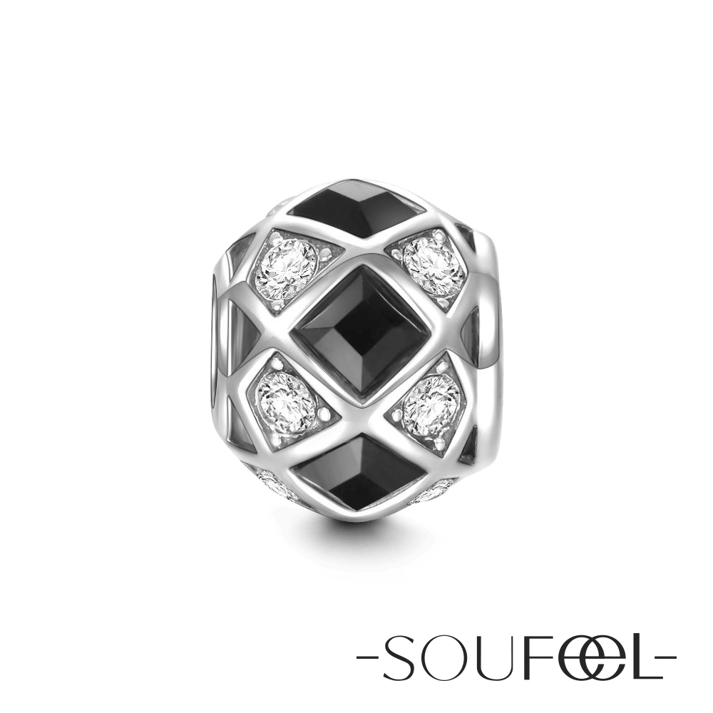SOUFEEL索菲爾 925純銀珠飾 黑白相間 串珠