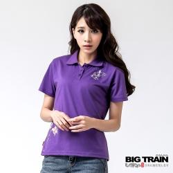 BIG TRAIN 戲水小金魚POLO衫-女-紫