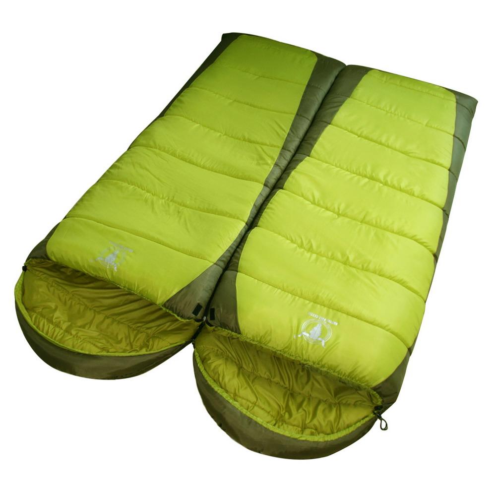 《APC》秋冬加長加寬可拼接全開式睡袋(雙層七孔棉)(2入優惠組)-墨綠色