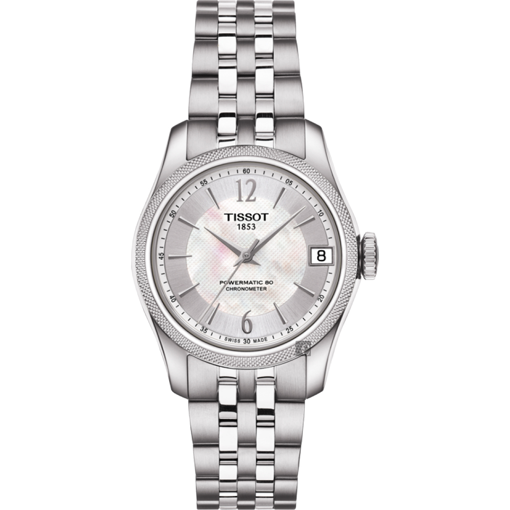 TISSOT天梭 Ballade COSC 80小時矽游絲機械女錶-銀/32mm T1082081111700 product image 1