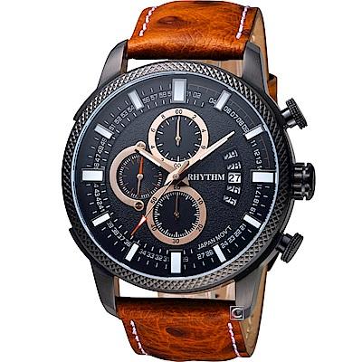 日本麗聲錶RHYTHM都會叢林粗曠型腕錶(SI1607L03)-46mm
