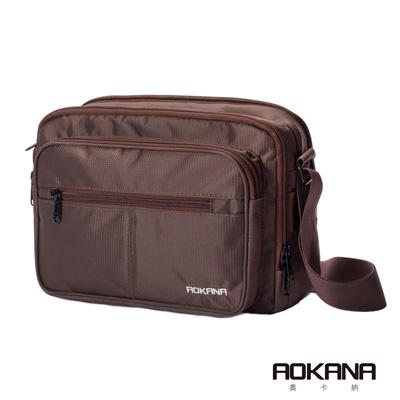 AOKANA 商務旅者Elda系列 輕旅防盜高達15層超多層設計背包(咖啡)02-039