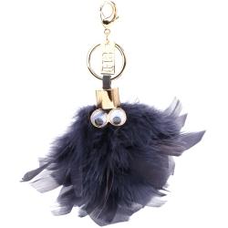 Sophie Hulme Sam Feather 羽毛造型鑰匙圈(深藍色)