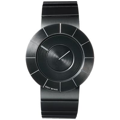 ISSEY MIYAKE 三宅一生 TO 系列極簡手錶(SILAN002Y)-黑/38mm