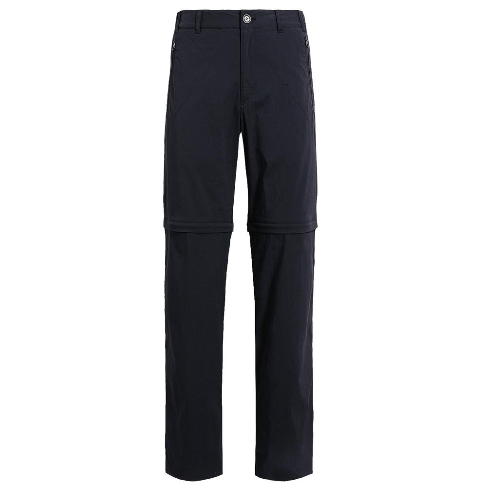 【hilltop山頂鳥】男款抗UV吸濕快乾彈性兩截褲S08M19-黑