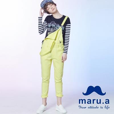 maru-a麻洛野-多口袋金屬釦吊帶長褲
