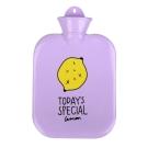 微甜馬卡龍保暖熱水袋/暖手袋 1300ml (紫色檸檬)
