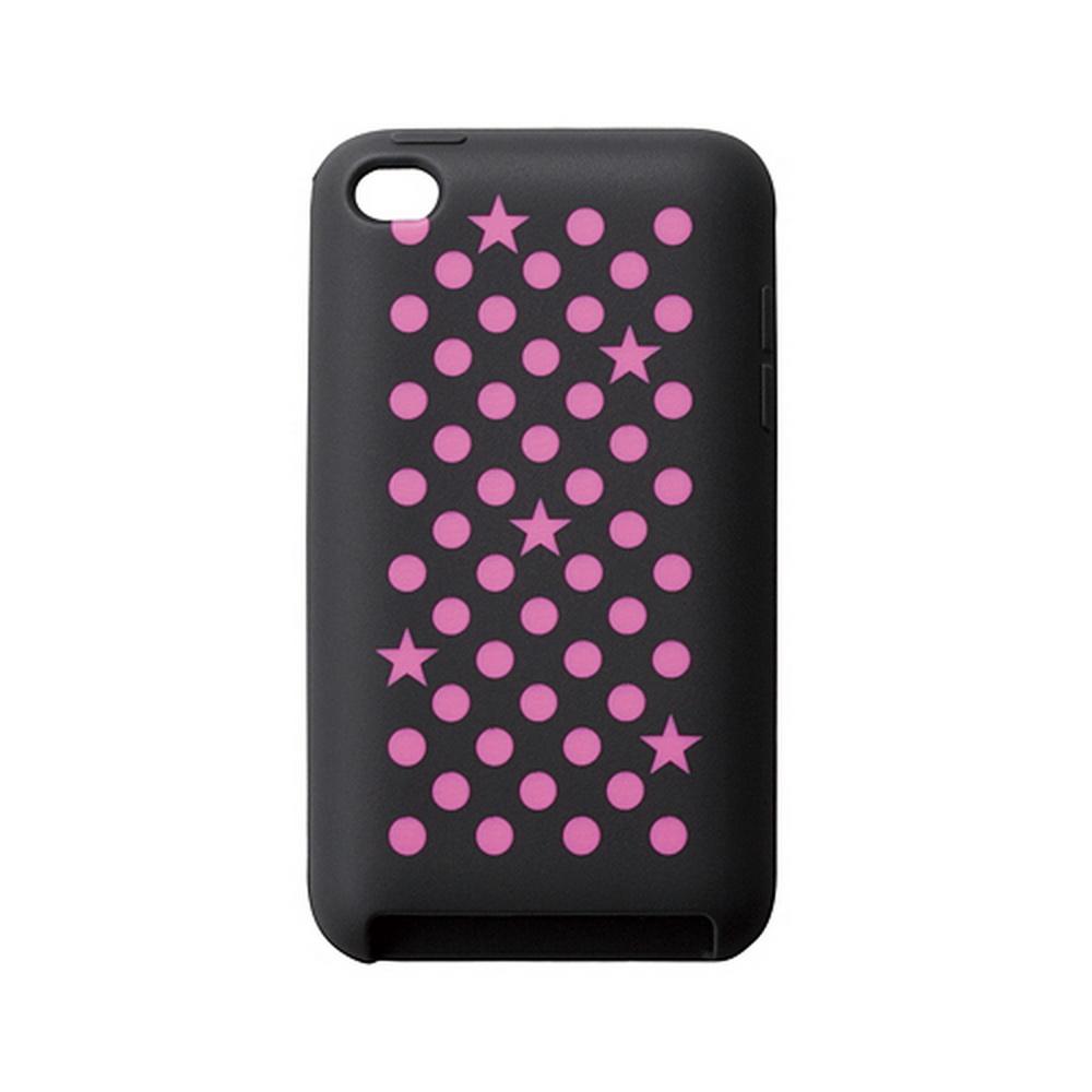 【ELECOM】iPod touch矽膠套-幾何粉