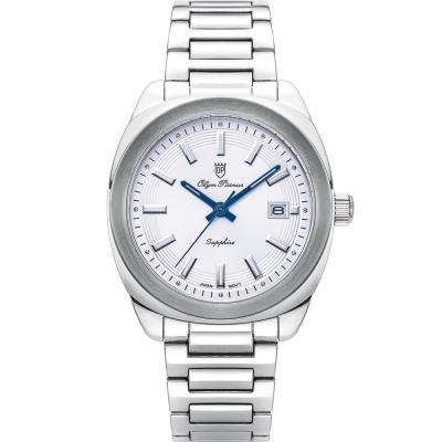奧柏表 Olym Pianus 聚焦時尚石英腕錶-白   5706MS
