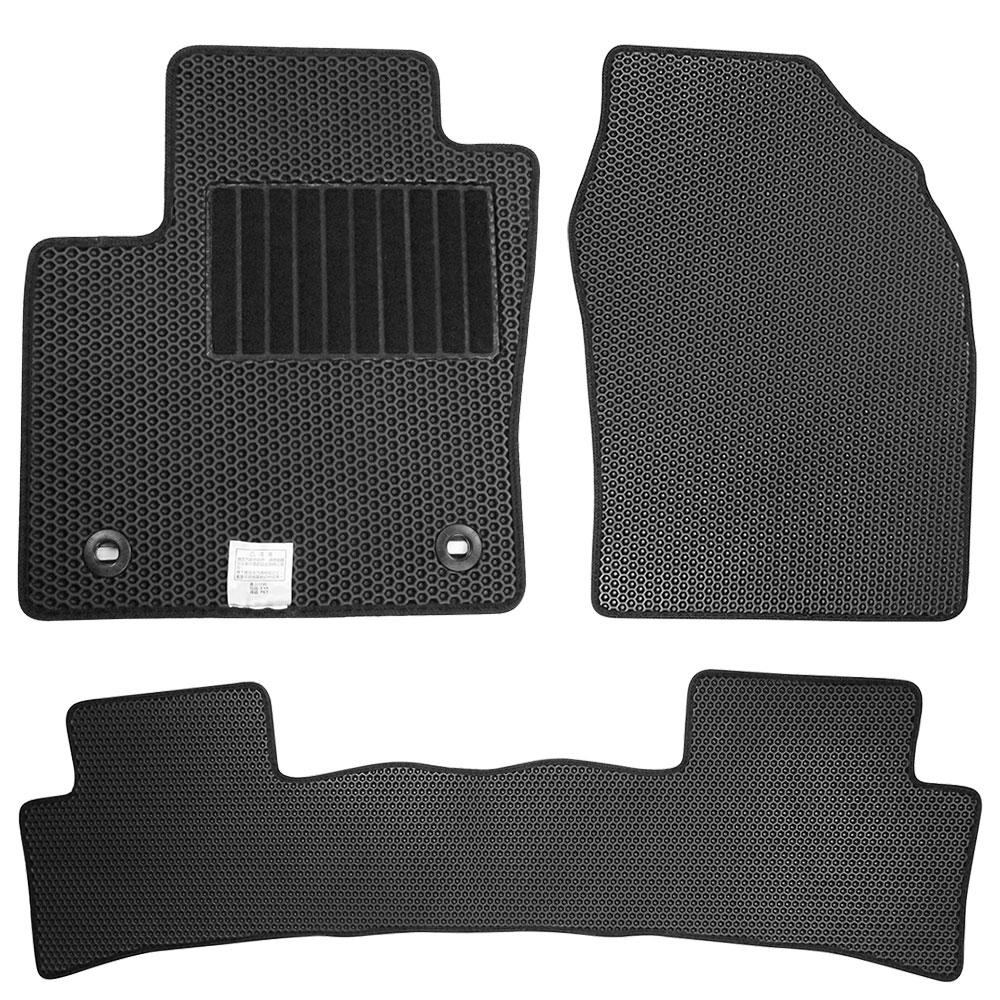CARBUFF 汽車腳踏墊 FIT (2014/10~) 三代 適用 / 蜂巢式防水車墊