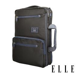 ELLE城市都會休旅系列-大容量收納13吋手提/後背/電腦公事包-黑色 EL83910