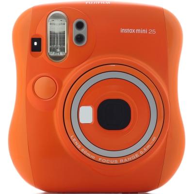 拍立得 FUJIFILM instax mini 25 相機-橘色(平行輸入)