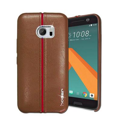HOCAR HTC 10 / M10 爵士皮革保護手機殼(淺棕)