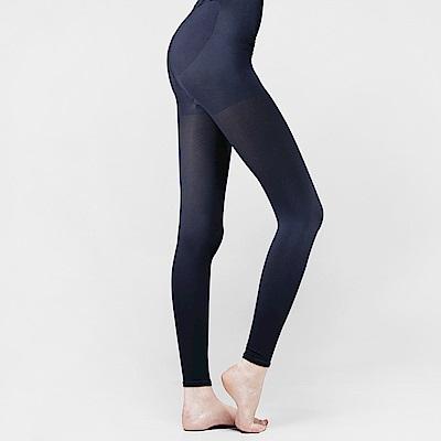 足下物語  台灣製熱感應280丹美臀纖腰內搭褲S-XL藍色(昇溫6°C)