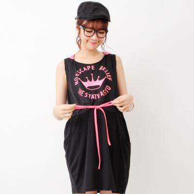 Keep-Chic孕婦裝-美式運動風味哺乳背心洋裝