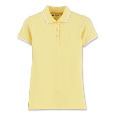 Hang Ten - 女裝 - 基本多彩提條配色POLO-黃