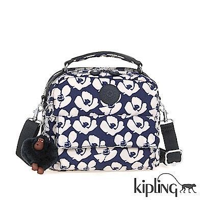 Kipling 後背包 夏日時光花卉印花-小