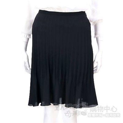 i BLUES 黑色百褶及膝裙