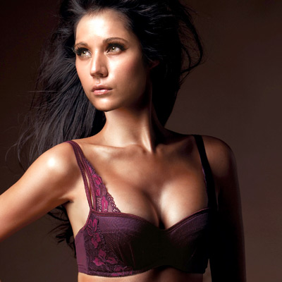 La-Felino-知性佳人1-2剪接QQ棉內衣成套-迷幻紫