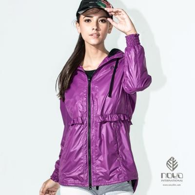 NOYA-HELN-TEX防潑防風外套-魅力紫-32520433