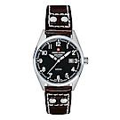 阿爾卑斯軍錶S.A.M -獨家限定-指揮官系列-黑色錶盤/皮帶/30mm