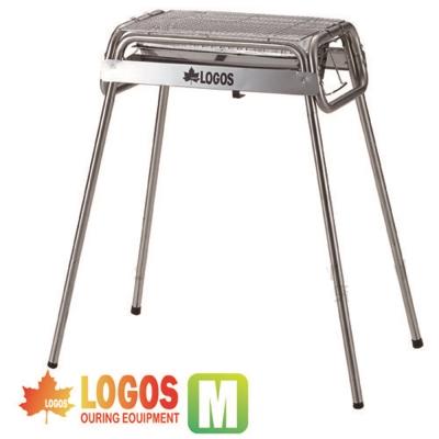 【日本 LOGOS】Smart80不鏽鋼BBQ烤爐(M/附烤盤)/不鏽鋼花冠筒烤爐加高版