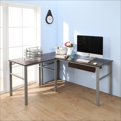 BuyJM低甲醛防潑水L型160+80公分單抽屜穩重型工作桌-DIY