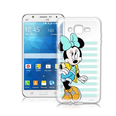 迪士尼Samsung Galaxy J7 J700街頭透明軟式手機殼(俏米妮)