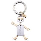 COACH 雙色機器人金屬鑰匙圈-金/銀色