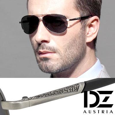 【2件59折】DZ 風尚異紋 抗UV 偏光太陽眼鏡墨鏡(槍框灰片)