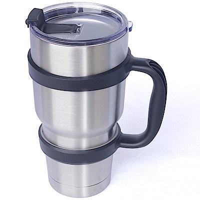 冰凍杯 304不鏽鋼雙層保冷/保溫杯900ml一個+杯架一個
