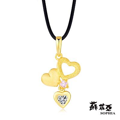 蘇菲亞SOPHIA - G LOVER系列粉紅戀曲黃金項鍊