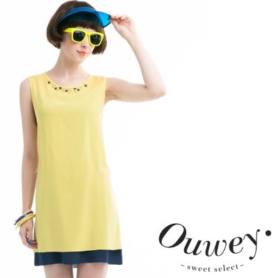OUWEY歐薇 糖果色兩件式背心洋裝