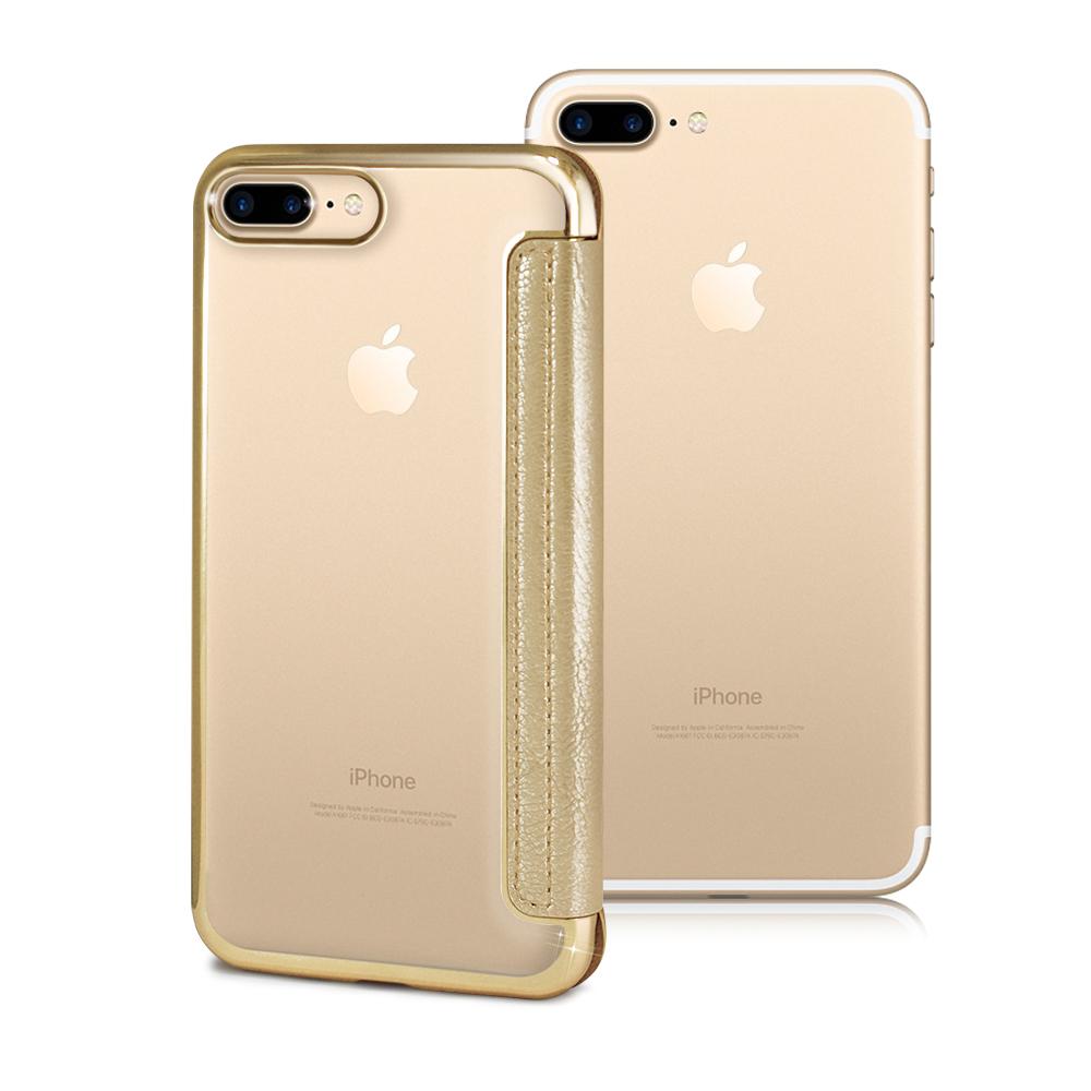 AISURE愛秀王 FOR Apple iPhone 7 Plus 5.5吋 法式浪漫裸背皮套