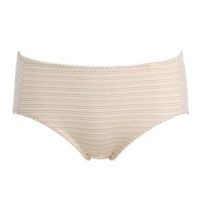 黛安芬- eco chic裸紗原棉平口生理褲M-EL(條紋裸)