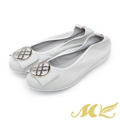 MK-Q彈系列-歐式窗花飾釦彈力娃娃鞋-灰色