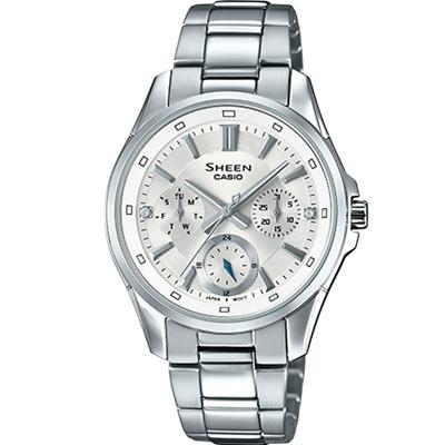SHEEN 經典俐落時尚腕錶(SHE-3060D-7A)銀白/34mm