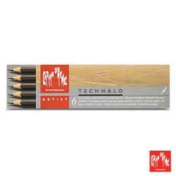 CARAN d'ACHE 卡達 - 專業系列 水溶性鉛筆 6支入(HB,B,3B)