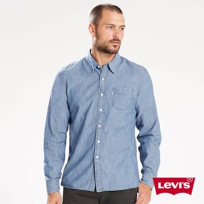 Levis 牛仔襯衫 男裝 休閒版型 單口袋 簡約素面