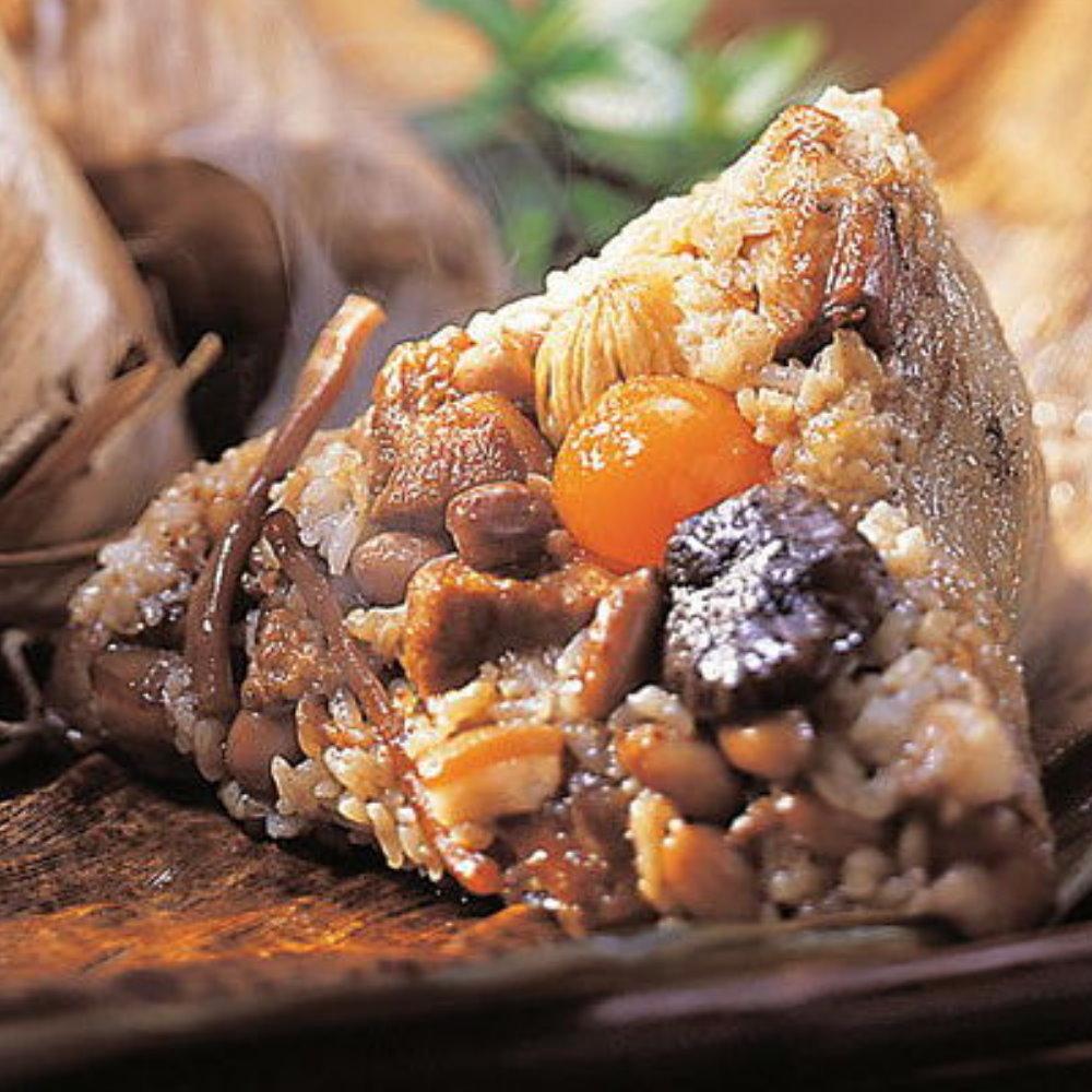 【品香】八寶肉粽6入+傳統肉粽10入+月桃葉花生粽10入