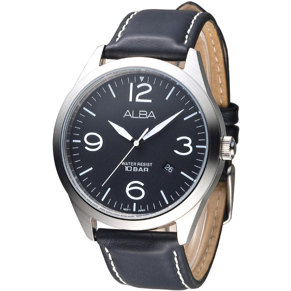 ALBA雅柏手錶 紳士時代時尚男錶-黑(AS9701X1)/44mm 保固二年