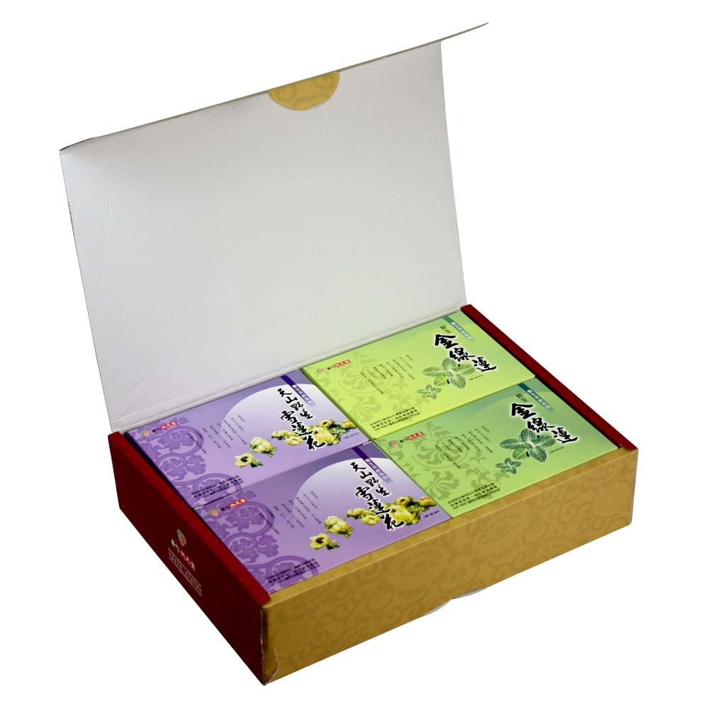 (限時7天)華陀扶元堂 健康茶飲禮盒x1(金線蓮茶2盒+雪蓮花茶2盒)