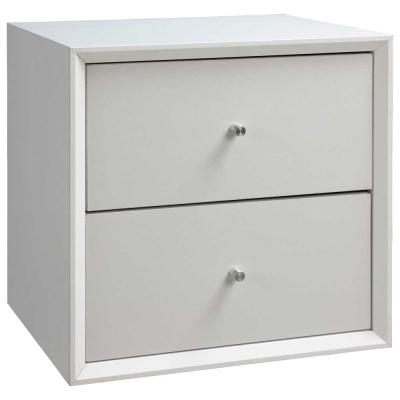 魔術方塊36系統收納櫃/二抽櫃-白色