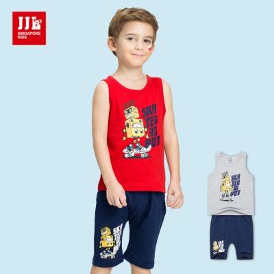 JJLKIDS 滑板機器人純棉套裝(2色)