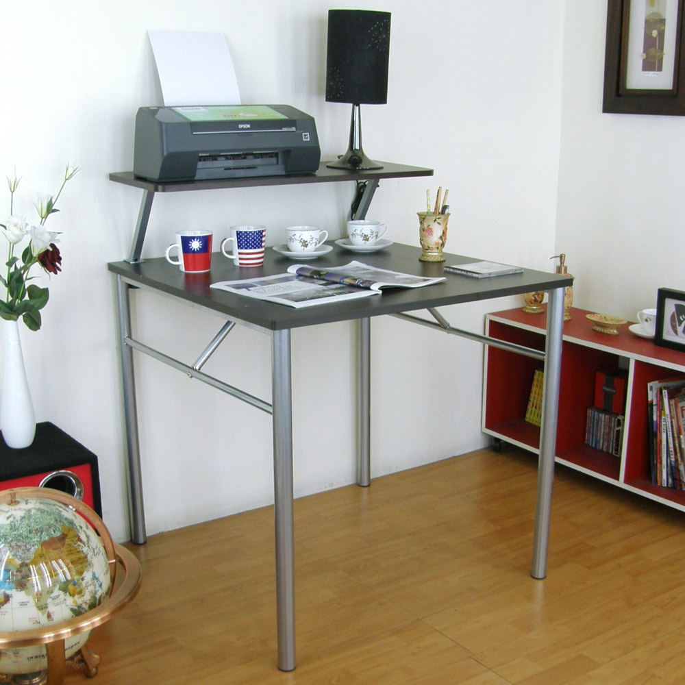 頂堅(桌面80x80cm)書桌(附Z型桌上架80cm/二色)