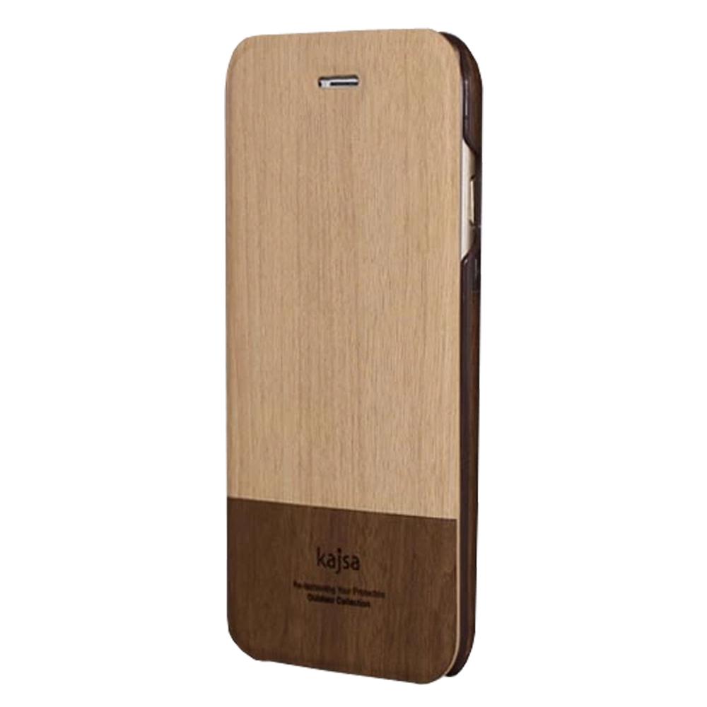 kajsa iphone 6 4.7時尚木紋側翻可插卡皮套